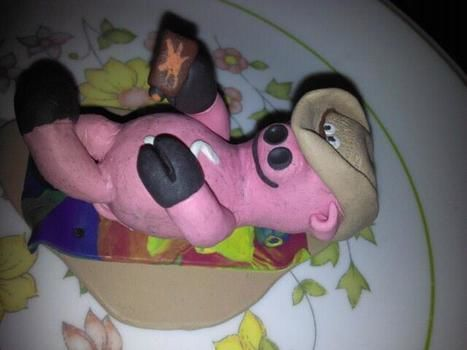 Friends Birthday Figuringe I made :) .  Sculpt a clay pig by constructing with sculpey clay. Inspired by creatures and pigs. Creation posted by Jeremy C. Difficulty: 3/5. Cost: Cheap.