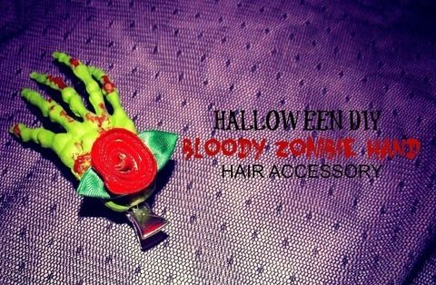 A cool accessory for your hair just in time for halloween .  Free tutorial with pictures on how to make a hairband / headband in 1 step using super glue, nail polish, and acrylic paint. Inspired by zombies, clothes & accessories, and roses. How To posted by Alternativelychiic. Difficulty: Simple. Cost: Cheap.