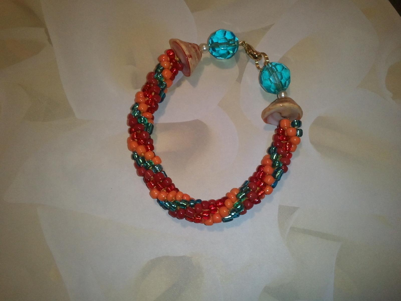 Tropical Beaded Crochet Bracelet How To Braid A Braided Bead