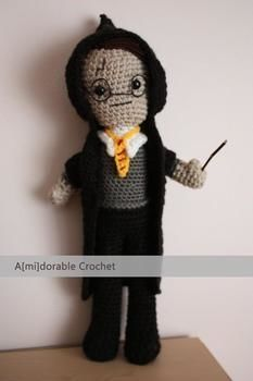 Meet Mr Potter <3 .  Make a Harry Potter plushie by crocheting with yarn. Inspired by harry potter and kawaii. Creation posted by amidorable . Difficulty: 3/5. Cost: No cost.