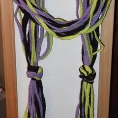 Multistrand Knotted Crochet Scarf