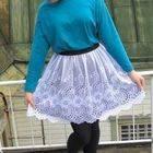 Scallop Hem Lace Skirt
