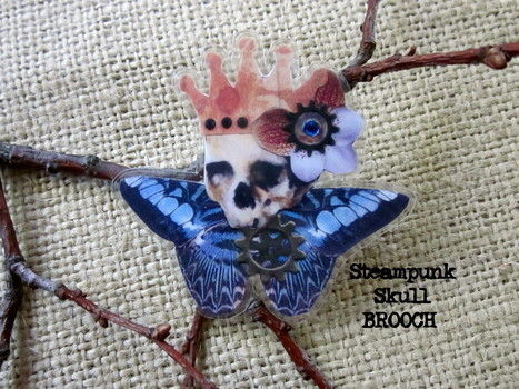 Laminated wearable art .  Make a paper brooch in under 60 minutes by jewelrymaking, papercrafting, collage, and decoupaging with paper and glue. Creation posted by Wendy W. Difficulty: Simple. Cost: Absolutley free.