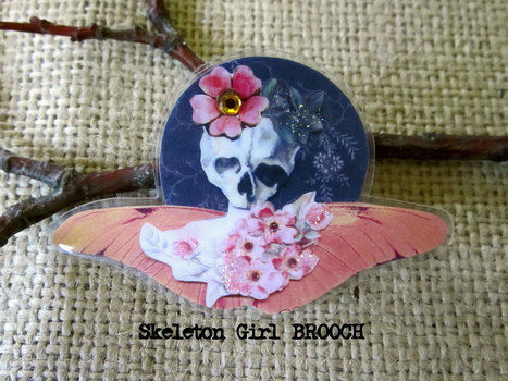 DIY wearable art .  Make a paper brooch in under 60 minutes by jewelrymaking, papercrafting, collage, and decoupaging with paper and glue. Creation posted by Wendy W. Difficulty: Simple. Cost: No cost.