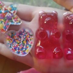 Resin Gummy Bears And Sprinkle Cups