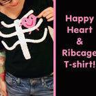 Happy Heart & Ribcage T Shirt