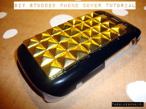 Stud up yo' phone! .  Free tutorial with pictures on how to make a phone case in under 40 minutes by embellishing and studding with jewlery pliers, pyramid studs, and all purpose glue. How To posted by thegluegungirl. Difficulty: Simple. Cost: Cheap. Steps: 7
