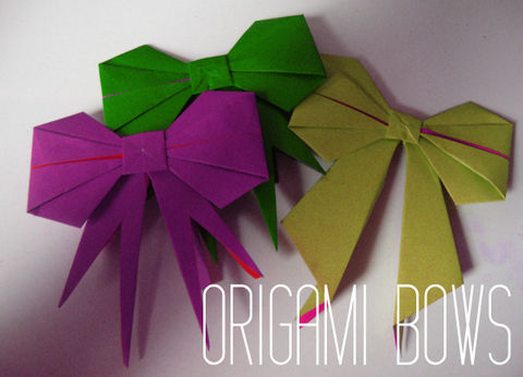 Master the art of paper folding! .  Free tutorial with pictures on how to fold an origami shape in under 10 minutes by paper folding and paper folding with origami paper. Inspired by bows and bows. How To posted by thegluegungirl. Difficulty: 4/5. Cost: Absolutley free. Steps: 30