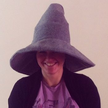 Handmade Gandalf hat .  Free tutorial with pictures on how to make a novelty hat in under 150 minutes by sewing with fabric, polyester stuffing, and lining fabric. Inspired by witches & wizards and costumes & cosplay. How To posted by cynthia.zabee. Difficulty: 3/5. Cost: 3/5. Steps: 1