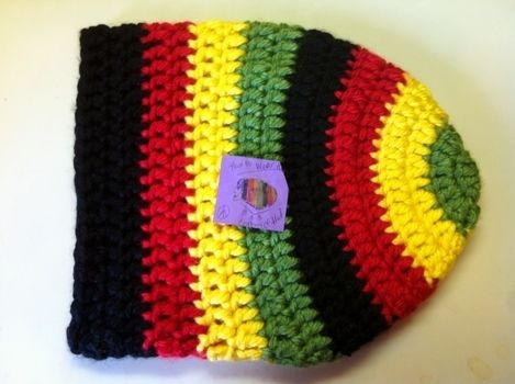 Thick and Warm .  Make a slouchy beanie in under 120 minutes by crocheting with crochet hook and bulky yarn . Inspired by bob marley, hippy, and clothes & accessories. Creation posted by Pam. Difficulty: 3/5. Cost: 3/5.