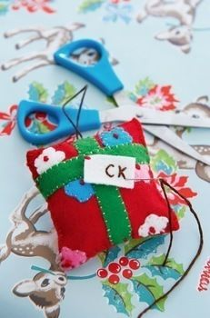 Make Your Own Christmas Decorations by Cath Kidston .  Free tutorial with pictures on how to make a Christmas decoration in under 40 minutes by sewing with scissors, felt, and stuffing. Inspired by christmas and cath kidston. How To posted by Quadrille. Difficulty: Simple. Cost: Cheap. Steps: 12