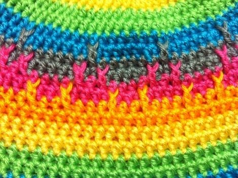 .  Make a stripy beanie by crocheting Inspired by kawaii, clothes & accessories, and rainbow. Version posted by Princess Pam-attitude . Difficulty: 3/5. Cost: Absolutley free.