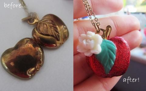 From rusty to glittering! .  Make a locket in under 20 minutes using nail varnish. Inspired by flowers, hearts, and clothes & accessories. Creation posted by Boberts Pod. Difficulty: Easy. Cost: No cost.