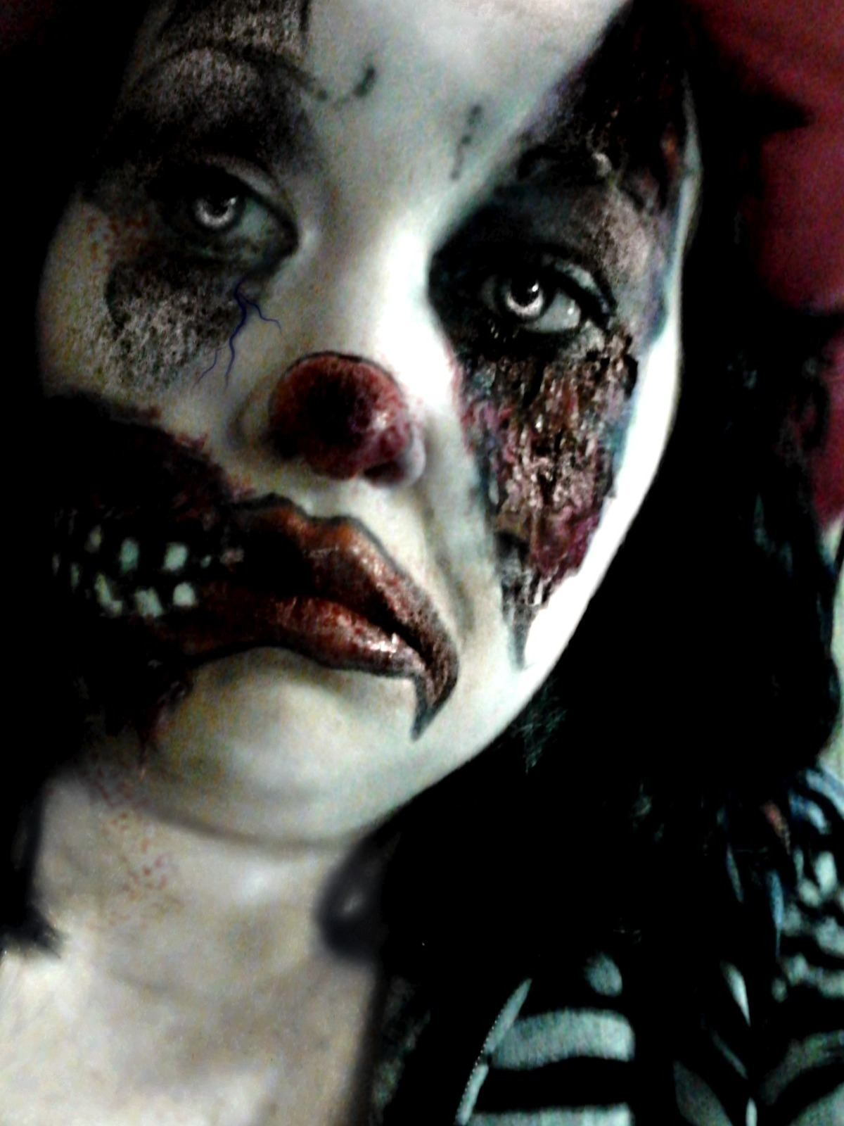 creepy clown 2 183 how to create a face painting 183 makeup