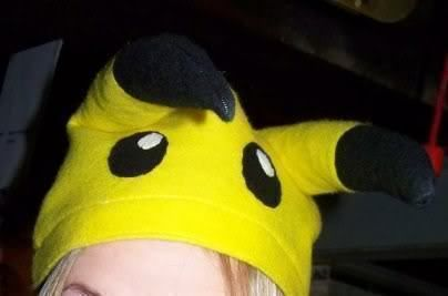 Fun costume hat .  Free tutorial with pictures on how to make a character hat in 1 step by embroidering and sewing with felt, measuring tape, and needle and thread or sewing machine. Inspired by halloween, pokemon, and creatures. How To posted by Amber Rose. Difficulty: Simple. Cost: Absolutley free.