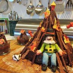 Bonfire Night Cake