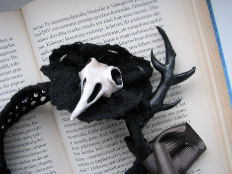 Something I made for Halloween  .  Make an ear / horn in under 60 minutes by constructing, molding, and sewing with acrylic paint, lace, and hair band. Inspired by halloween, creatures, and gothic. Creation posted by CountessAudronasha. Difficulty: Easy. Cost: Cheap.