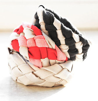 See how your old shirts can be turned into these pretty bracelets! .  Free tutorial with pictures on how to make a t-shirt bracelet in under 30 minutes by braiding with t shirt. How To posted by lana red. Difficulty: Easy. Cost: No cost. Steps: 1