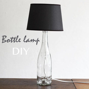 Make your own Martin Margiela Botlle Lamp .  Free tutorial with pictures on how to make a bottle lamp in under 120 minutes by decorating with bottle and lamp. How To posted by lana red. Difficulty: 3/5. Cost: Cheap. Steps: 1