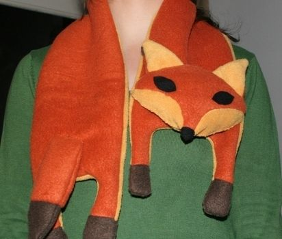 .  Make an animal scarf by sewing Inspired by animals, vintage & retro, and foxes. Version posted by Hella. Difficulty: Easy. Cost: 3/5.
