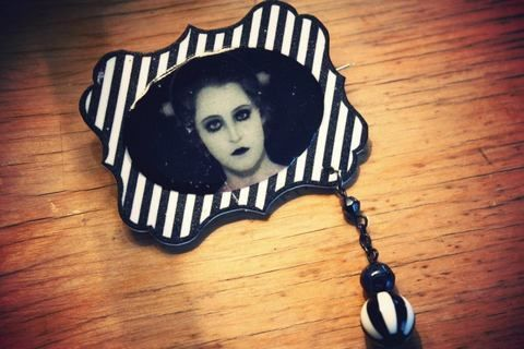 Shrink plastic .  Make a shrink plastic brooch by creating and jewelrymaking with beads and shrink plastic. Inspired by gothic, vintage & retro, and monsters. Creation posted by Jane Smith. Difficulty: Easy. Cost: Cheap.