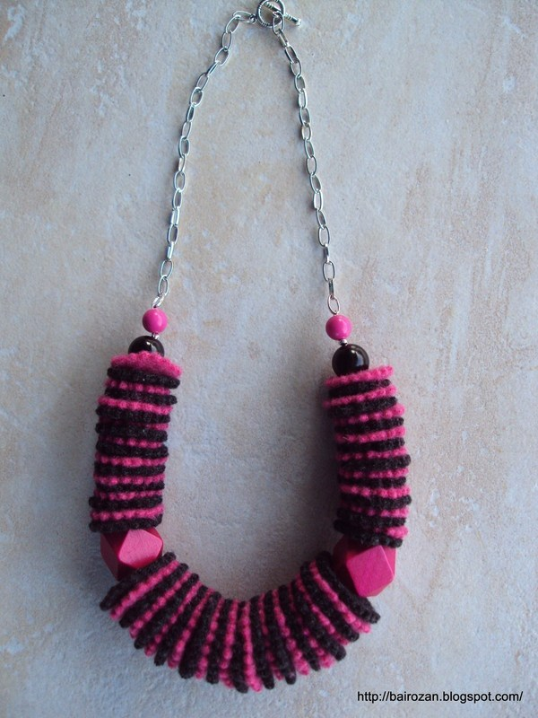 Felt Necklaces From Recycled Clothes · A Fabric Necklace · Jewelry ...