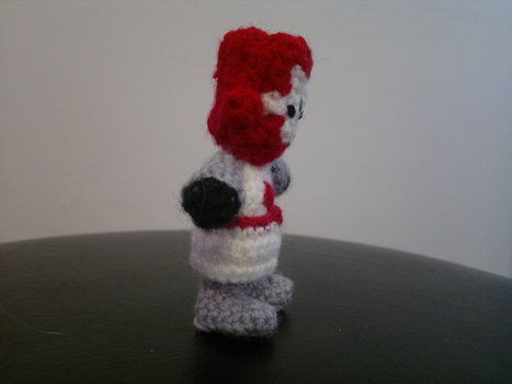 Fight with cuteness! .  Free tutorial with pictures on how to make a character plushie in 18 steps by yarncrafting, crocheting, and amigurumi with yarn, crochet hook, and embroidery thread. Inspired by computer games, cut out + keep, and monsters. How To posted by HotPinkCrayola. Difficulty: 4/5. Cost: Absolutley free.