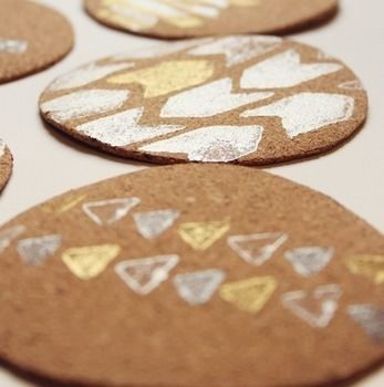Sip in style. .  Free tutorial with pictures on how to make a cork coaster in under 30 minutes by decorating with scissors, stampers, and rubber stamp. How To posted by Chelsea C. Difficulty: Simple. Cost: Cheap. Steps: 3