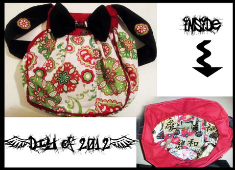 .  Sew a bow bag in under 180 minutes Inspired by gothic, steampunk, and costumes & cosplay. Version posted by Ashinezz. Difficulty: 3/5. Cost: Cheap.