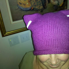 The Easiest Kitty Hat You Will Ever Knit.