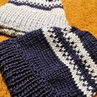Matching Knitted Blue Hats
