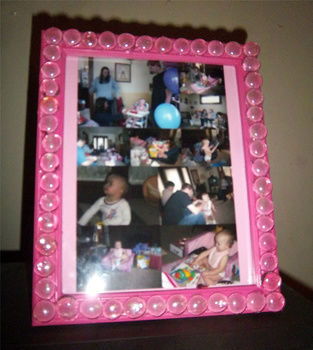 .  Decorate an embellished photo frame in under 10 minutes by spraypainting, decorating, and embellishing Version posted by KMOM14. Difficulty: Easy. Cost: Cheap.