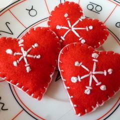 Scandi Inspired Heart Brooch