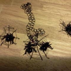 Wire Work, Jewelled Spider's Web