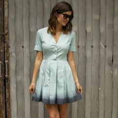 Dip-Dyed Pastel Dress