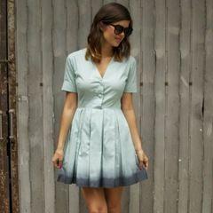 Dip-Dyed Pastel Dress