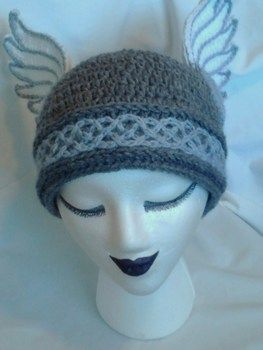 Valkyries, Let's Ride! .  Make a novelty hat by crocheting with felt, worsted weight yarn, and worsted weight yarn. Inspired by halloween, costumes & cosplay, and people. Creation posted by Rachell S. Difficulty: 4/5. Cost: 3/5.