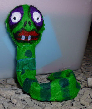 .  Make a worm plushie by sewing Version posted by Minimax. Difficulty: 4/5. Cost: No cost.