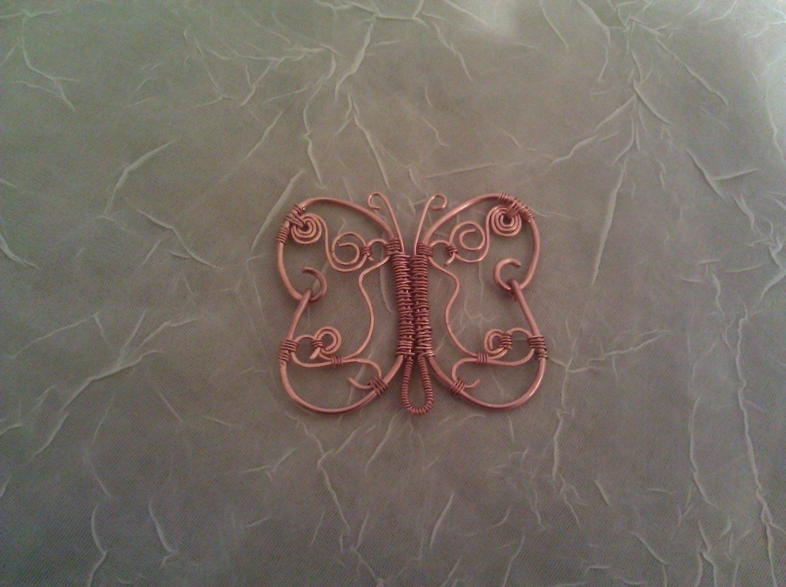 Copper Butterfly 183 A Wire Brooch 183 Jewelry Making And