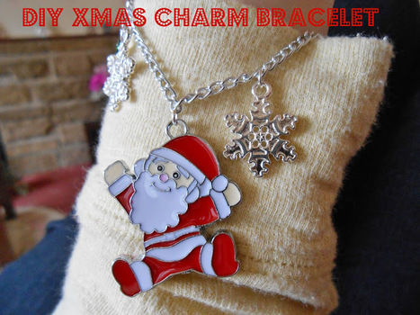 Simple, cute and easy to do!  .  Free tutorial with pictures on how to make a bracelet in under 20 minutes by jewelrymaking with jump rings, chain, and charms. Inspired by christmas, kawaii, and santa claus. How To posted by Rhiannon F. Difficulty: Easy. Cost: Cheap. Steps: 4