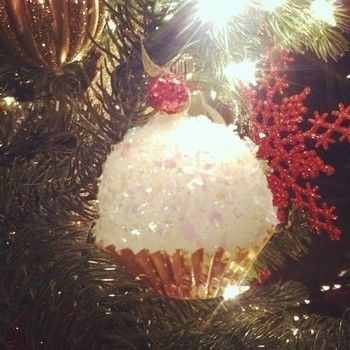 A Cute Ornament That Is Perfect For The Cupcake Lover In Your Family! .  Free tutorial with pictures on how to make a Christmas decoration in under 10 minutes by decorating and embellishing with ribbon, glue, and hot glue gun. Inspired by christmas, kawaii, and cupcakes. How To posted by HiroLover. Difficulty: Easy. Cost: Cheap. Steps: 9