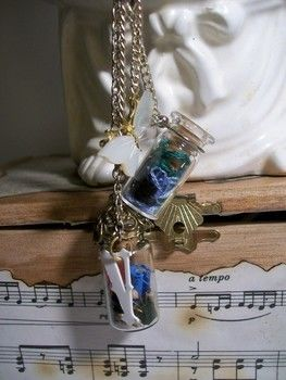 Baubles and bottles for all fellow time travelers .  Make a vial in under 60 minutes by jewelrymaking with chain, plastic, and bottle. Inspired by crafts, steampunk, and vintage & retro. Creation posted by lindsey.wagner.180. Difficulty: Simple. Cost: Cheap.
