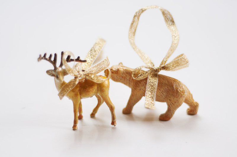 diy plastic animal decorations - Animal Christmas Decorations