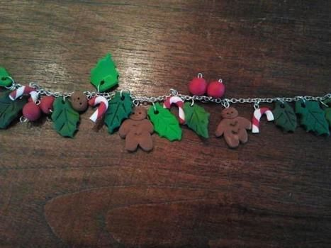 Yo ho ho! .  Sculpt a clay character bracelet in under 120 minutes using polymer clay. Inspired by christmas and kawaii. Creation posted by mimilover. Difficulty: 3/5. Cost: No cost.