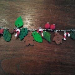 Christmas Fimo Bracelet