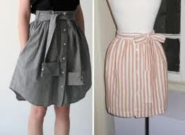 DIY Mens Dress Shirt Transformed Into A Cute Skirt .  Free tutorial with pictures on how to recycle a shirt into a skirt in under 69 minutes by applying makeup, constructing, and sewing with shirt. Inspired by vintage & retro, people, and clothes & accessories. How To posted by xxxKittycorexxx.  in the Sewing section Difficulty: Easy. Cost: No cost. Steps: 5