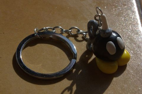 For any mario fan :) .  Sculpt a clay character charm in under 20 minutes by jewelrymaking and molding with polymer clay and key chain. Inspired by super mario, vintage & retro, and monsters. Creation posted by kiki94. Difficulty: Simple. Cost: Absolutley free.