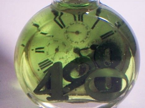 Time just melts away.. .  Make a watch pendant in under 30 minutes using food coloring, bottle, and number. Inspired by gothic and steampunk. Creation posted by lindsey.wagner.180. Difficulty: Easy. Cost: Cheap.