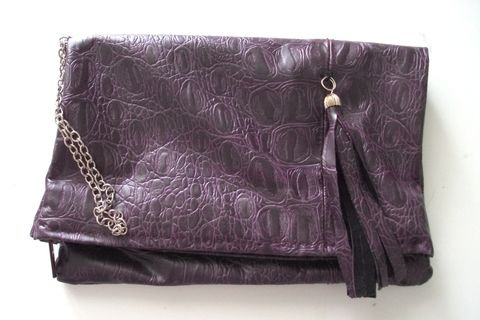 .  Make a leather clutch in under 60 minutes Version posted by Juliet J. Difficulty: Easy. Cost: Cheap.