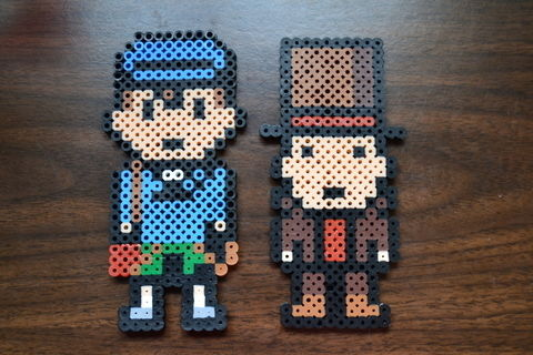And the culprit is you! .  Make a beaded character in under 60 minutes using iron, perler beads, and perler beads. Creation posted by Risa.Hanae (JapZilla). Difficulty: Simple. Cost: 3/5.